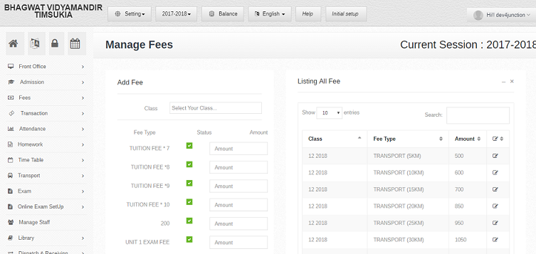 fee management