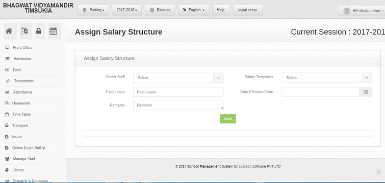 Salary Management