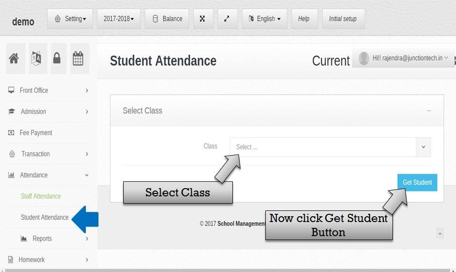 attendance management software stduent_class