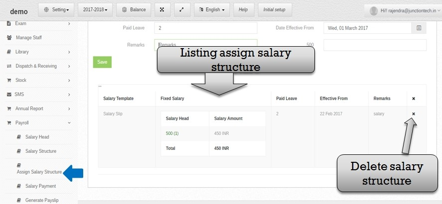 payroll assign list
