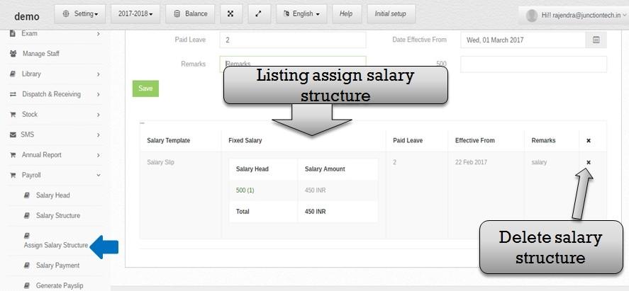 payroll assign list