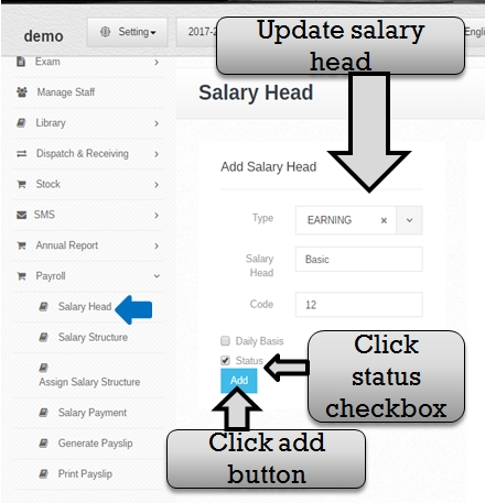 payroll salary updat