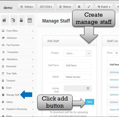 manage staff