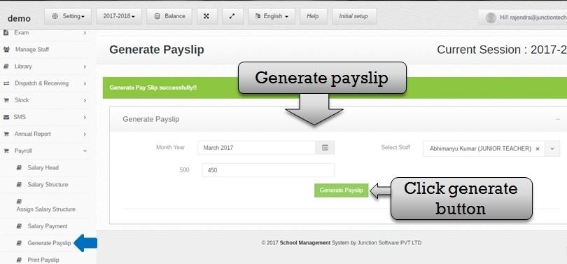 payslip generate