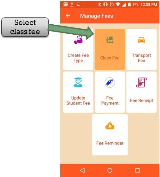 class fee