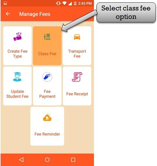create class fee