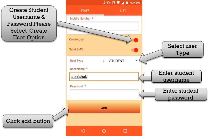 create student usern