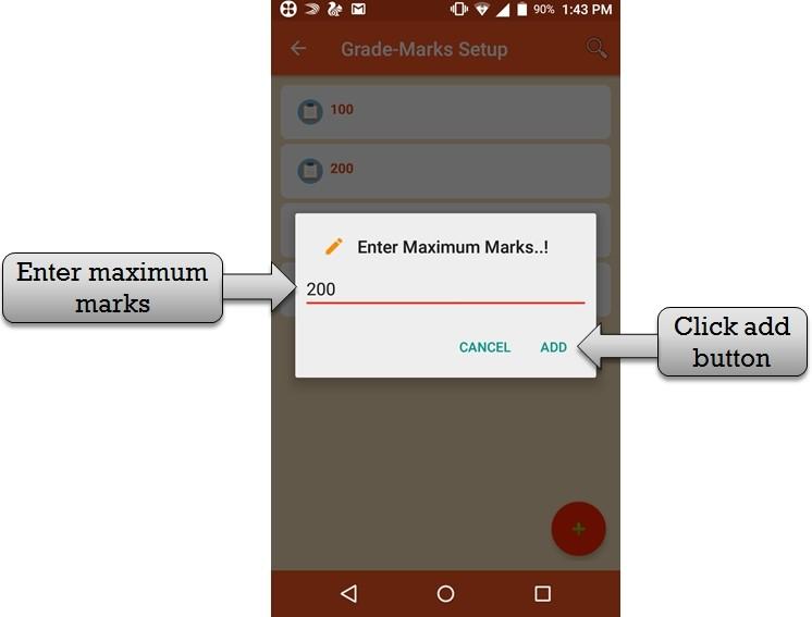 enter maximum marks
