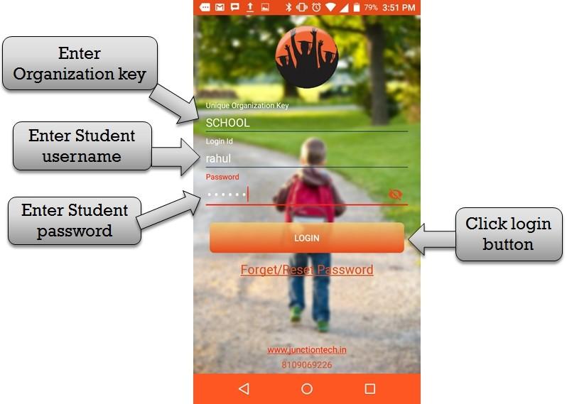 enter student id