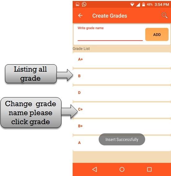 grade list
