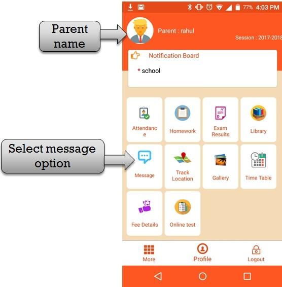 parent message