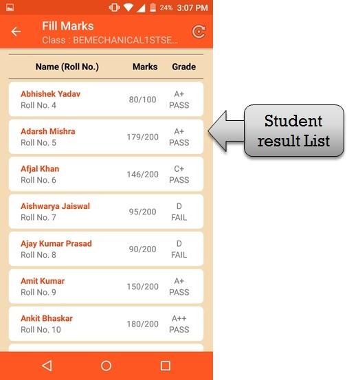 student result