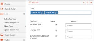 class fee assignment