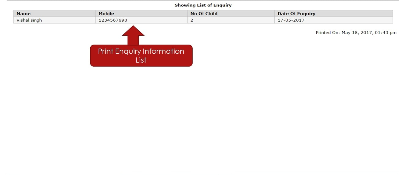 enquiry detail pdf