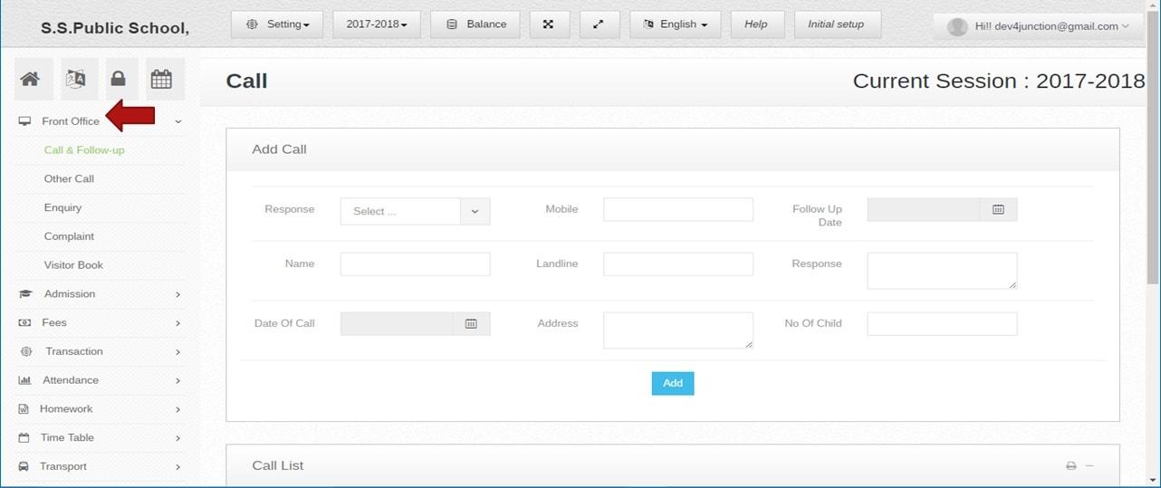 School ERP Front office management software | ZeroERP Education