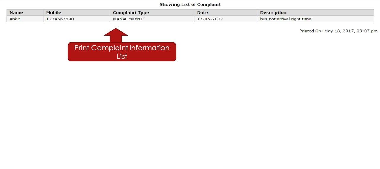 user complaint pdf